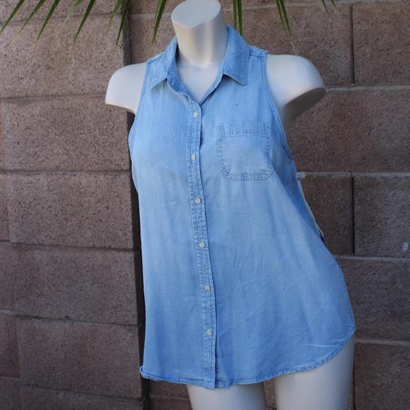 910c3a09f3 ⭐ 🆕Mossimo sleeveless jean shirt